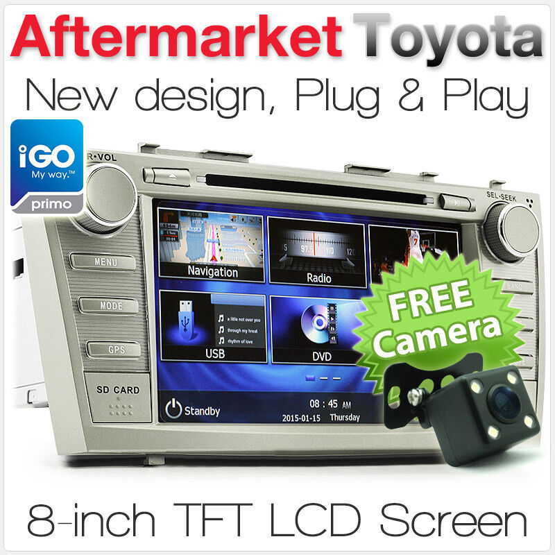 8 toyota aurion camry car dvd gps player stereo tunezup. Black Bedroom Furniture Sets. Home Design Ideas