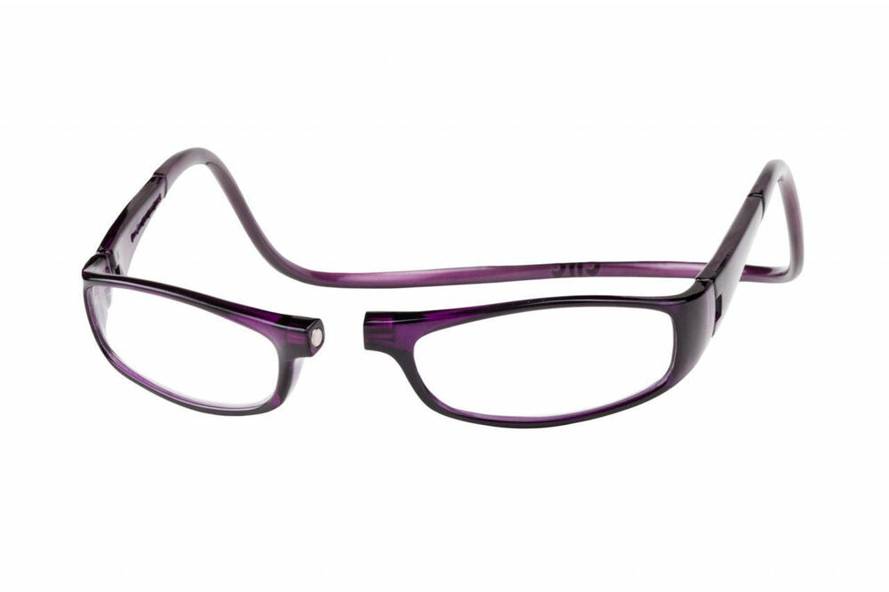 clic 2 0 diopter magnetic reading glasses purple ebay
