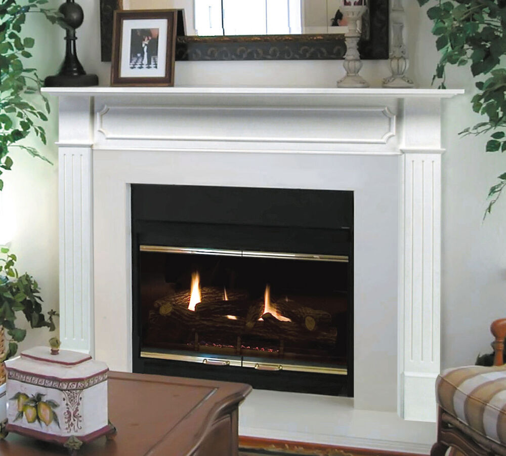 "Wooden Fireplace: Pearl Mantel Classic 48"" Berkley White Traditional"