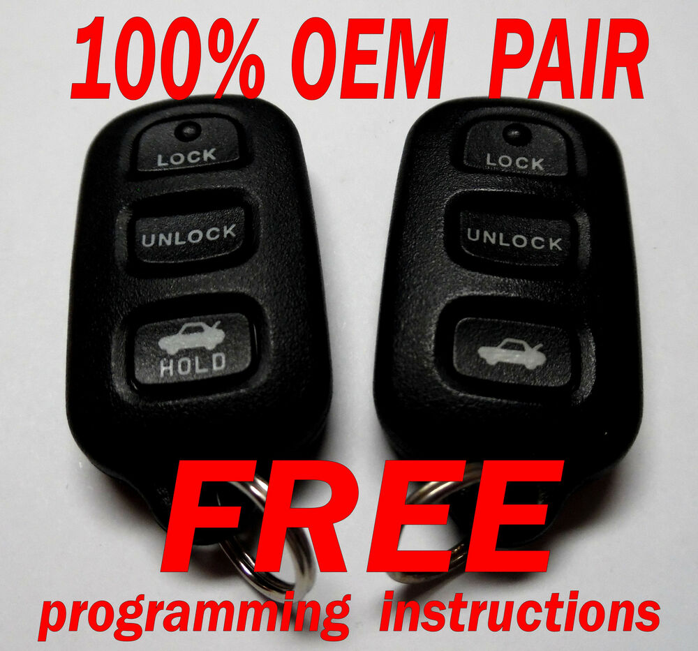 oem pair 2002 2003 2004 2005 2006 toyota camry solara keyless remotes gq43vt1. Black Bedroom Furniture Sets. Home Design Ideas