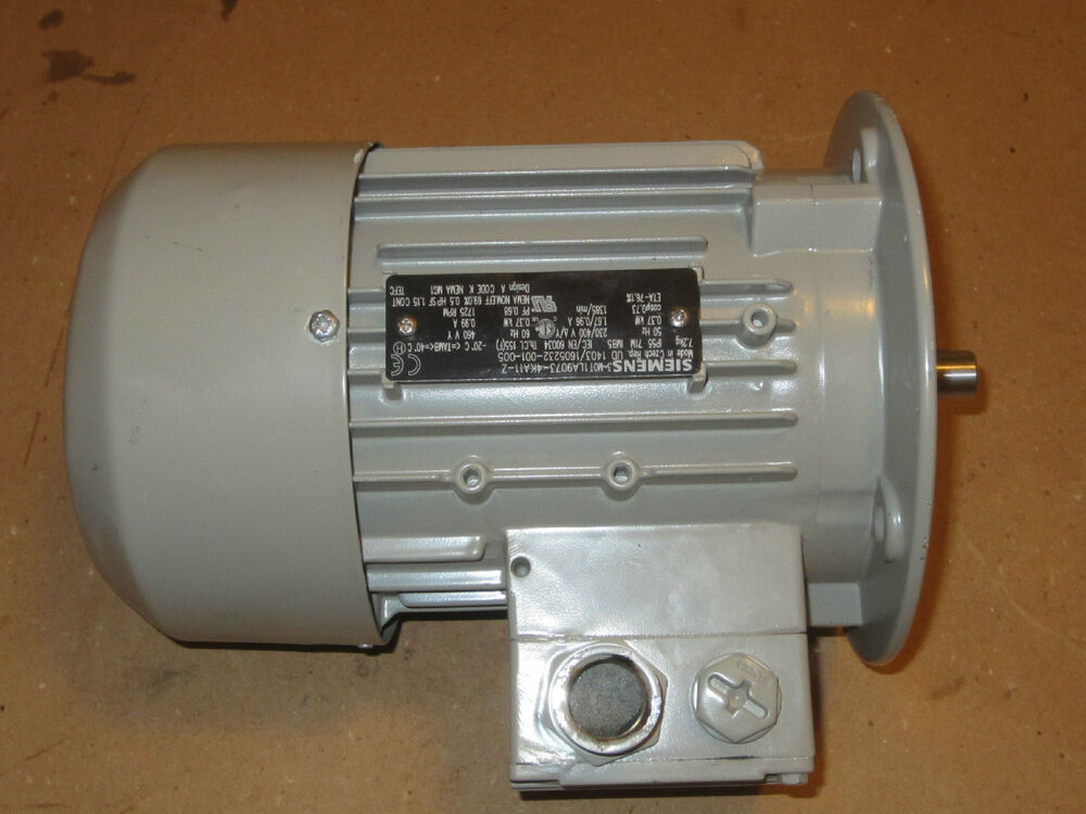 Siemens 1la9073 4ka22 Z Electric Motor Low Voltage