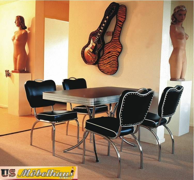 bel air m bel diner k chenm bel im style der 50er jahre ebay. Black Bedroom Furniture Sets. Home Design Ideas