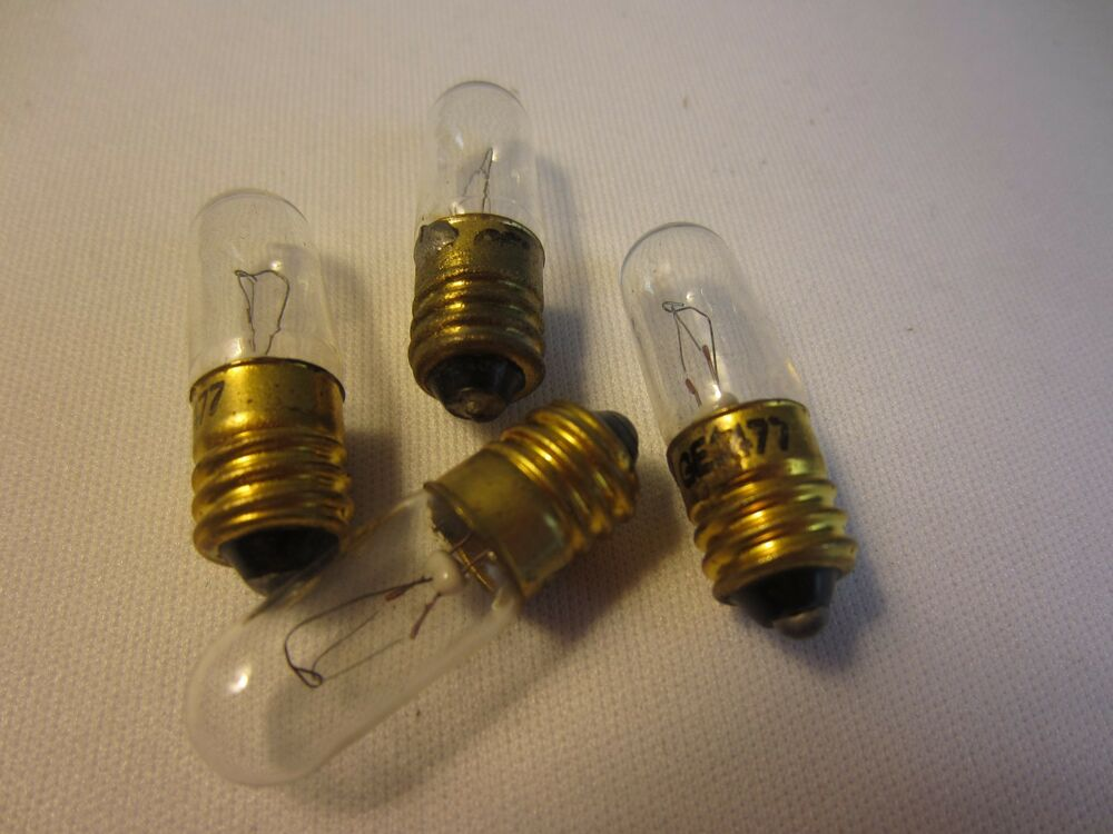 Lot Of 4 Ge General Electric 1477 Ge1477 Miniature Light Bulb Lamps Screw Base Ebay