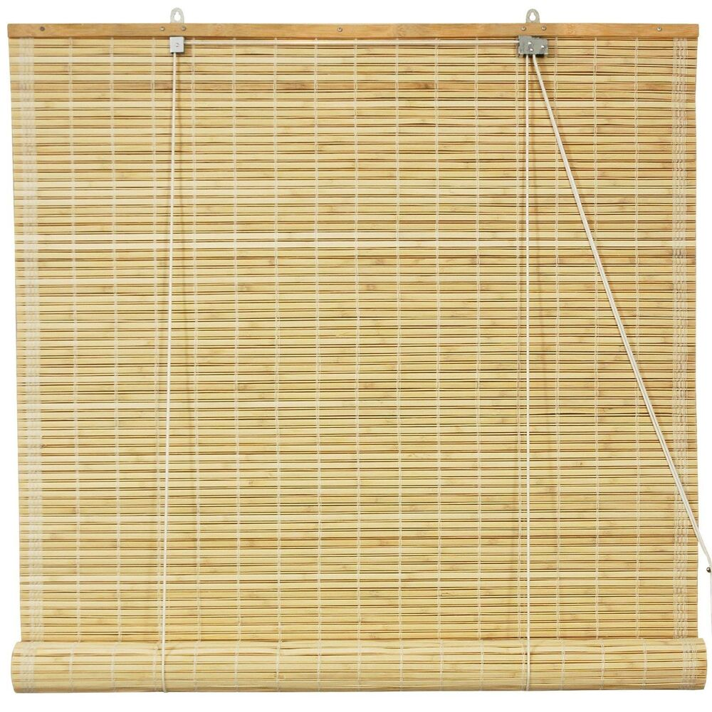 Bamboo roll blinds oriental bamboo roll up window blinds for Bamboo roller shades ikea