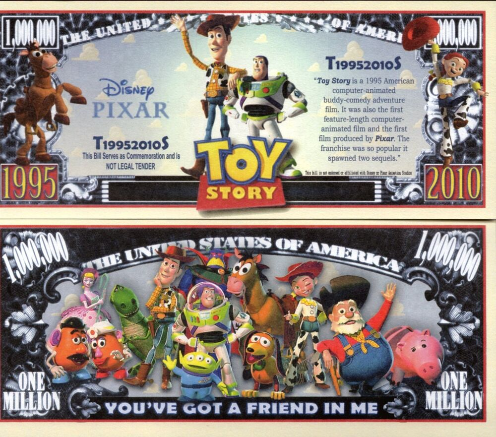 Toy Story Money Money Money : Toy story movie million dollar novelty money ebay