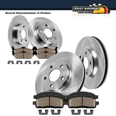 Front+Rear Brake Rotors Ceramic Pads For 2005 2006 2007 2008 2009 2010 Scion TC