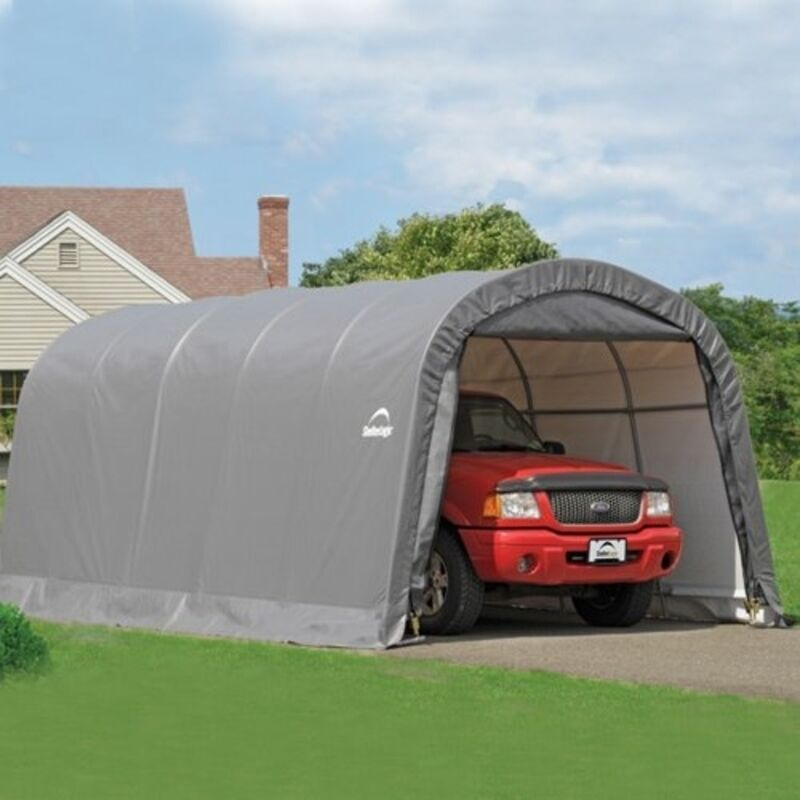 Instant Round Top Shelter : Shelterlogic garage in a box ft roundtop instant