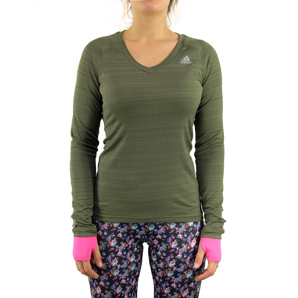 adidas supernova tee green women s long sleeve running t. Black Bedroom Furniture Sets. Home Design Ideas