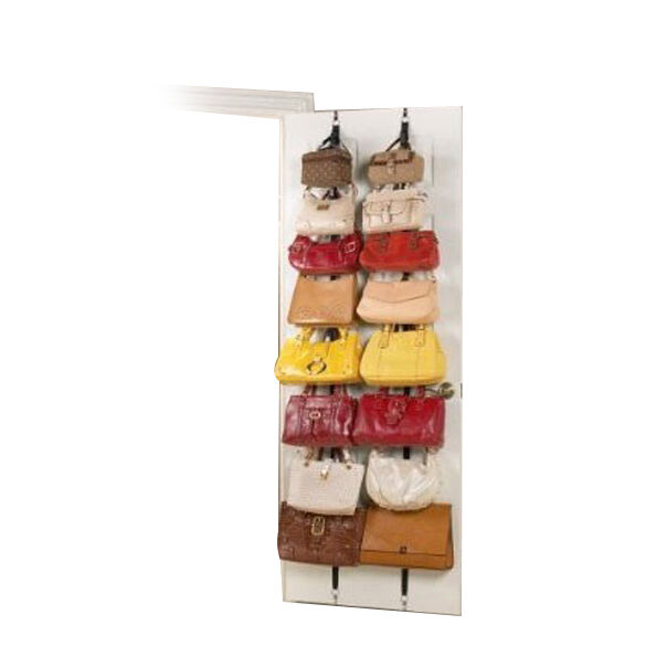2 over the door hanging purse clothes hat storage closet for Hat organizer for closet