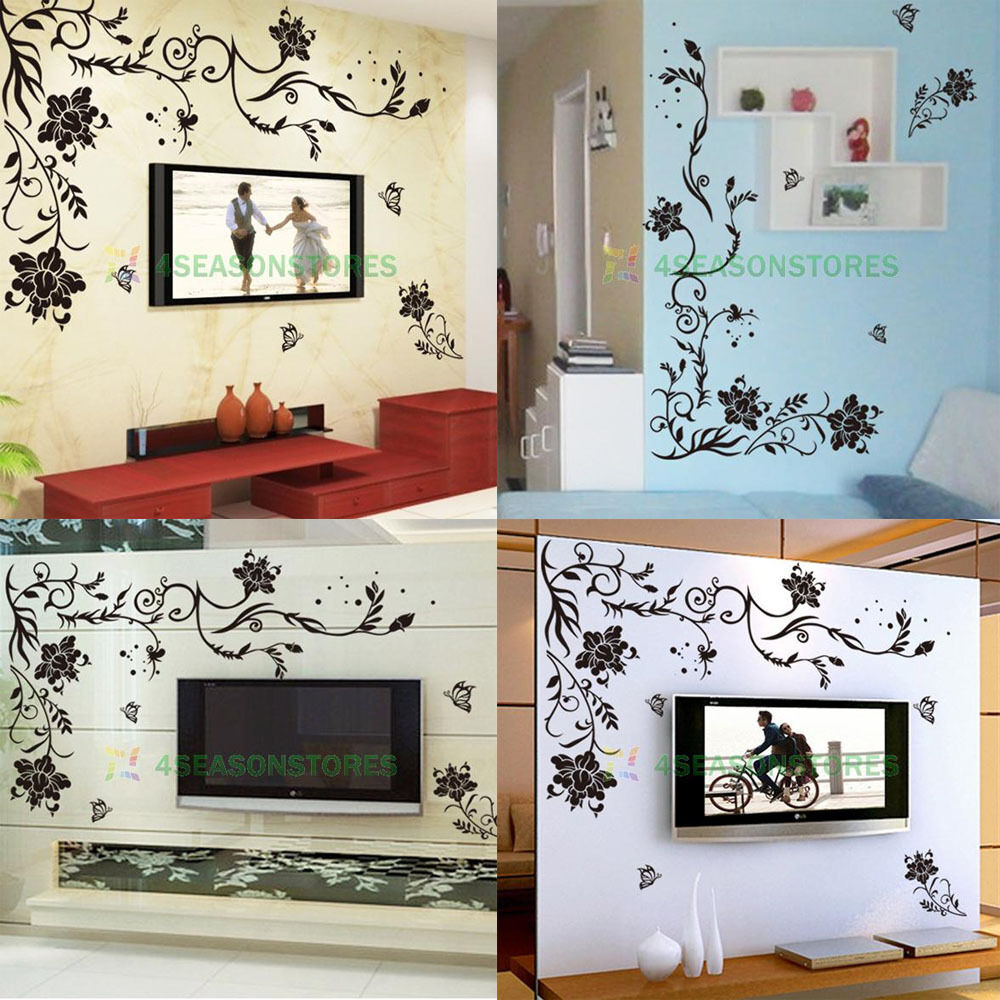 Diy art vinyl wall decal stickers decor room home for Diy photo wall mural