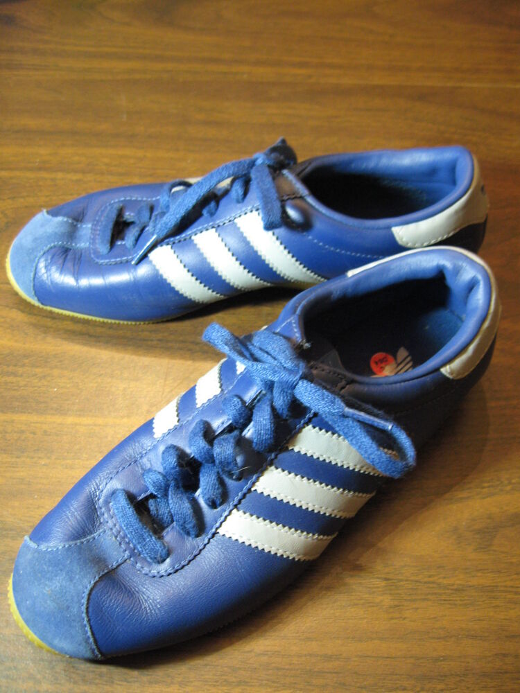 Adidas Originals Vintage 70s Rekord Retro Leather Trainers