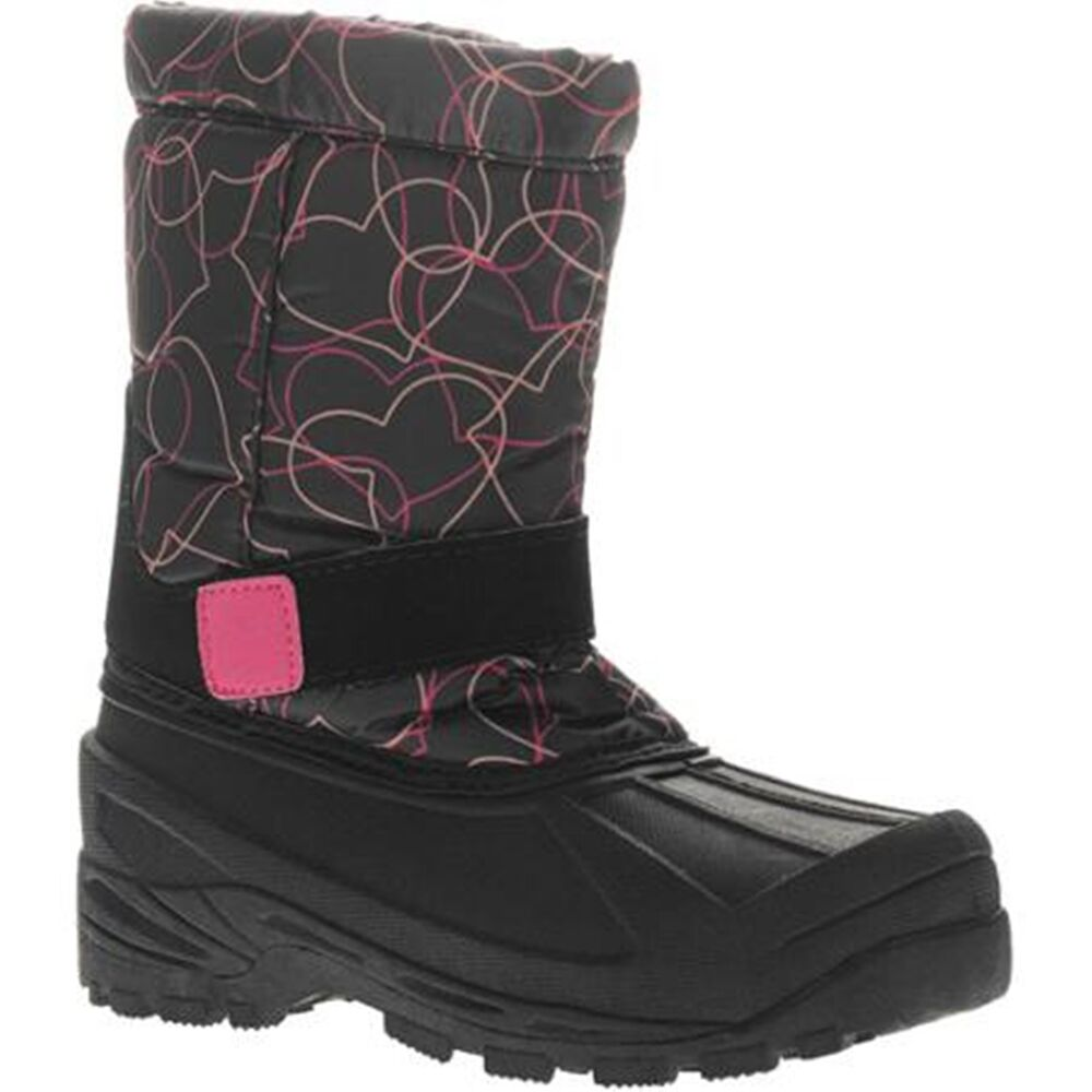GIRLS/TODDLER SIZE 5 WINTER SNOW BOOTS ~ BLACK/ PINK