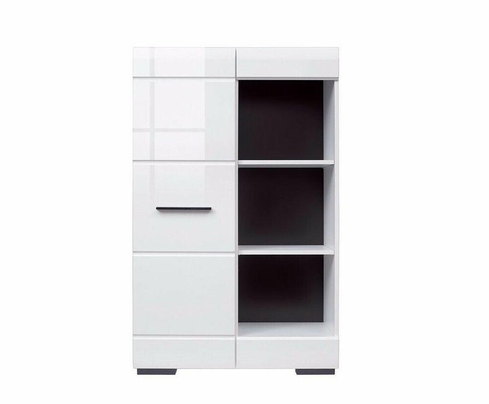 White Gloss Cabinet Sideboard Display Unit Living Room Furniture Fever Black New Ebay