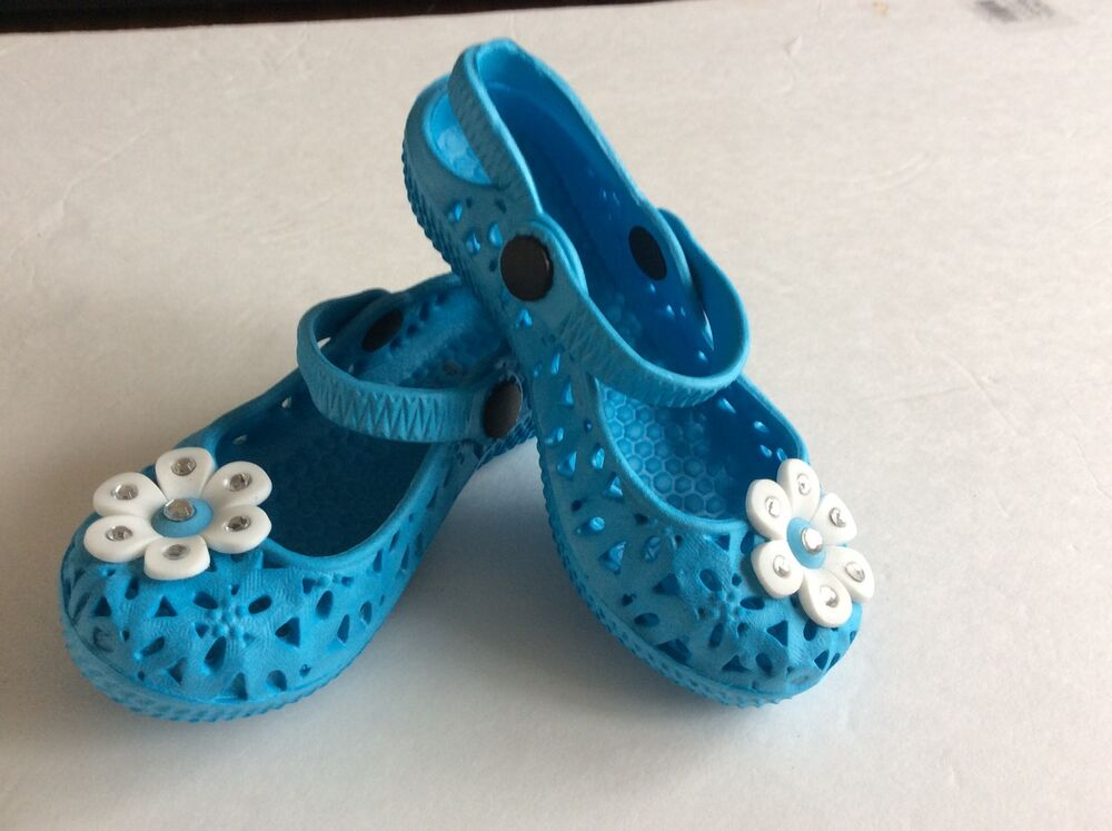 Blue toddler girl soft jelly sandals size 1 | eBay
