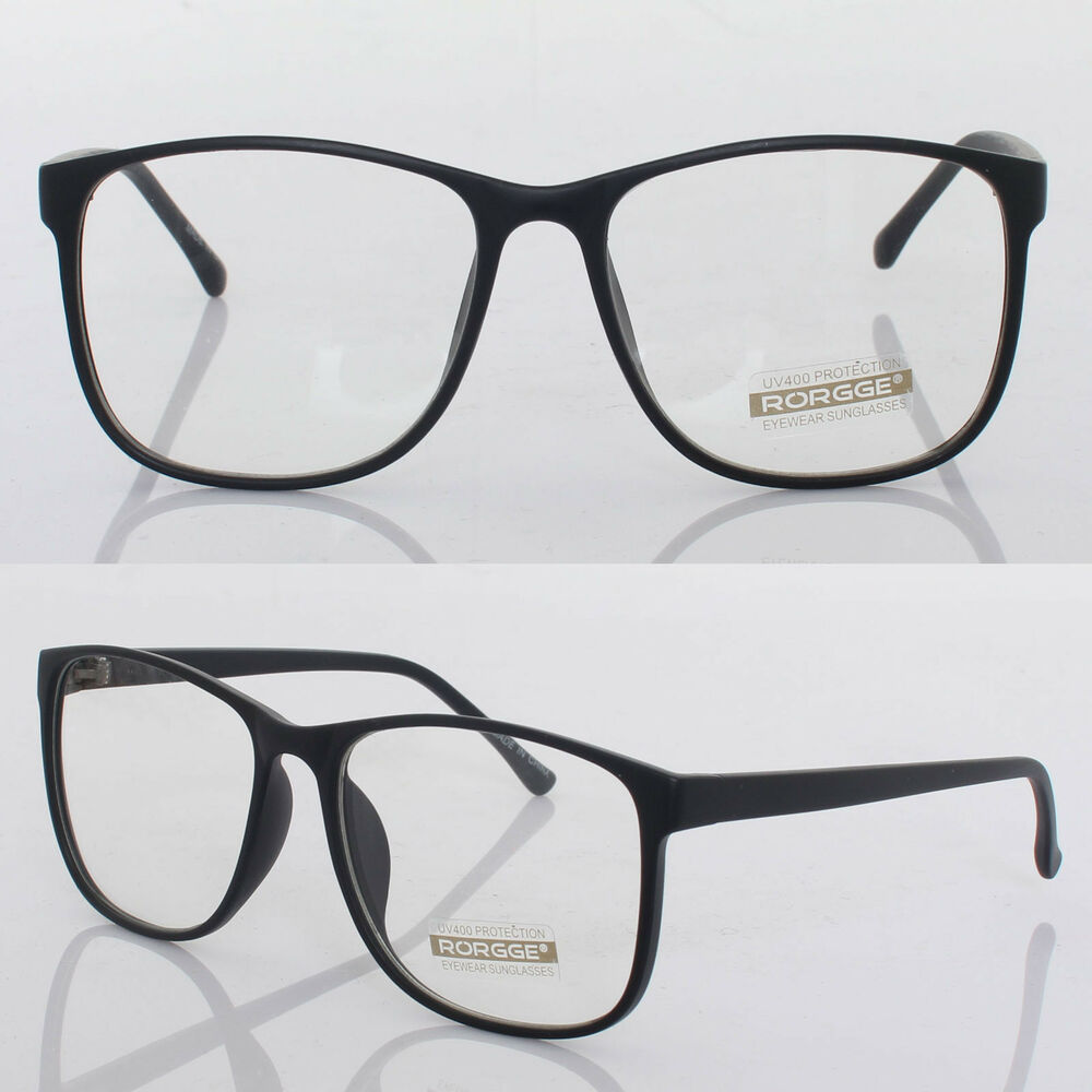 Glasses Frames Mens Style : New Fashion Mens Womens Retro Nerd Frames Clear Lens ...