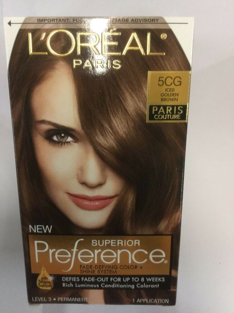 L39Oreal Superior Preference Paris Couture Hair Color ICED GOLDEN BROWN 5