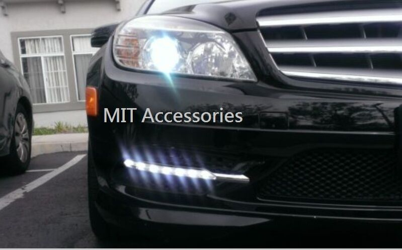 Mercedes benz w204 amg 08 11 c300 sport led fog lights drl for Led light for mercedes benz