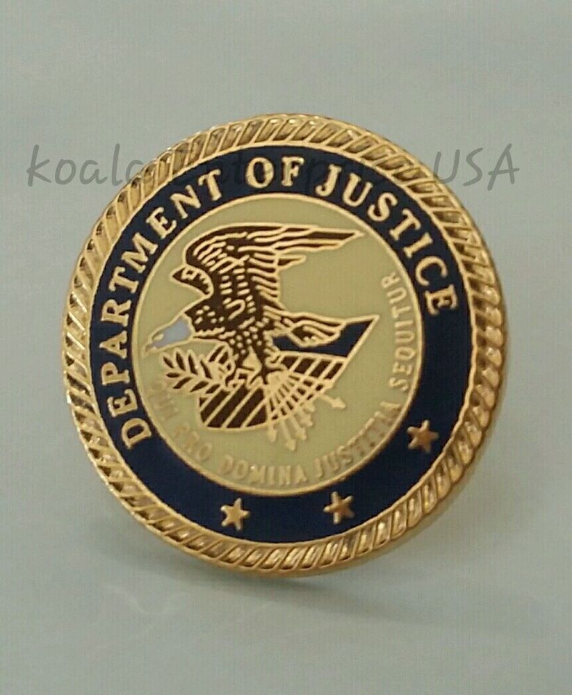us department of justice hat lapel pin ebay