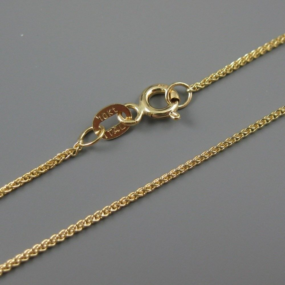 10kt solid yellow gold chain necklace gold necklace spiga