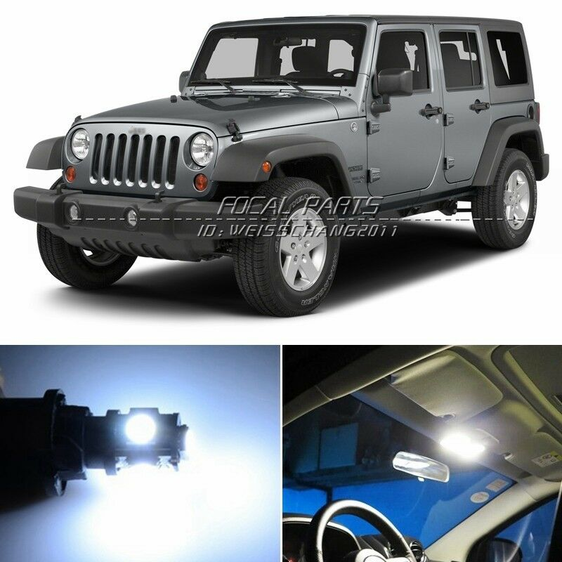 14 X Xenon White Led Lights Interior Package Kit For Jeep Wrangler 07 14 K164 Ebay