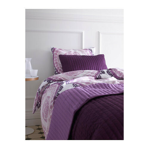 Beautiful purple lilac wine plum straight stitch quilted bedspread