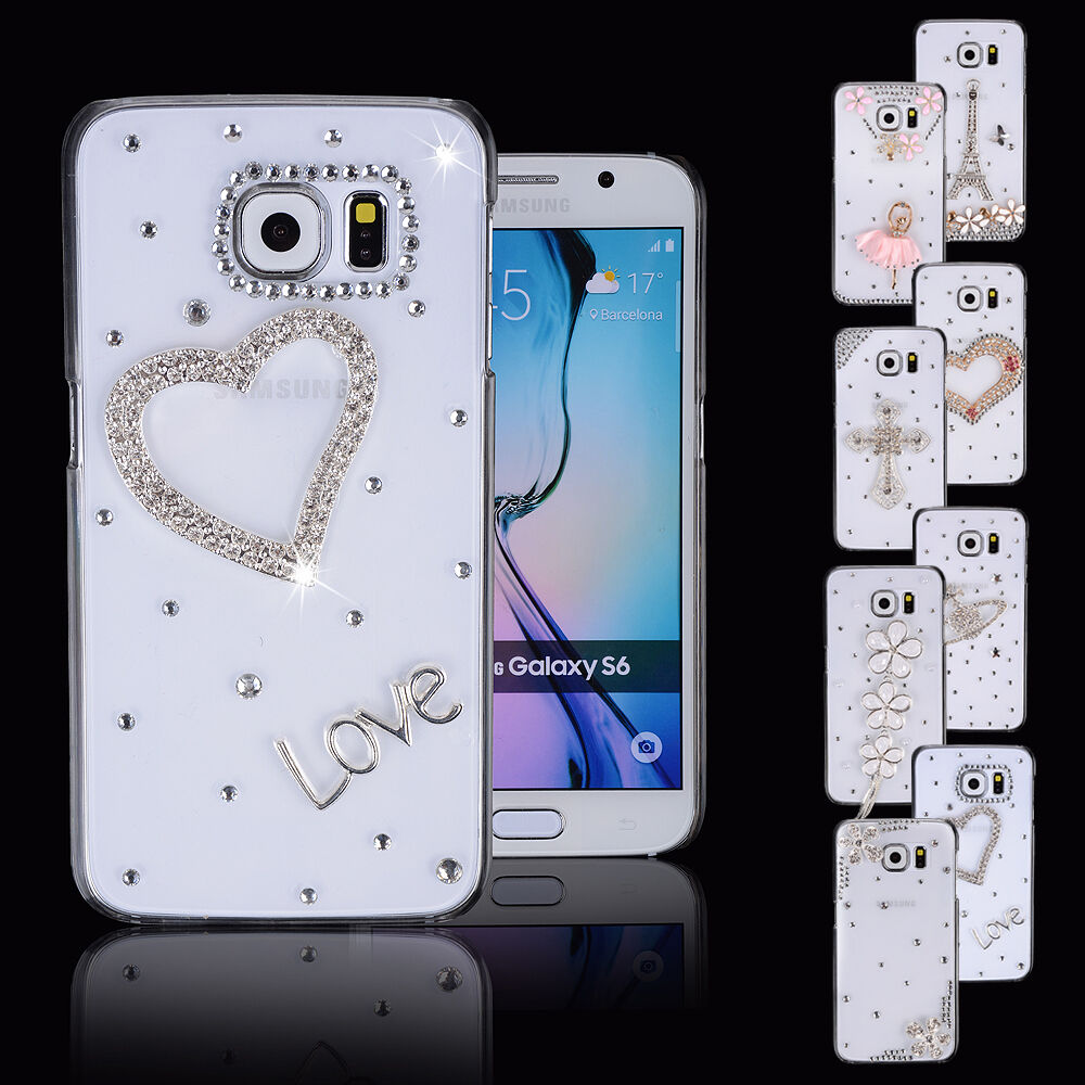 ... S7 Edge Note7 Girl Case 3D Bling Diamond Glitter Crystal Cover : eBay
