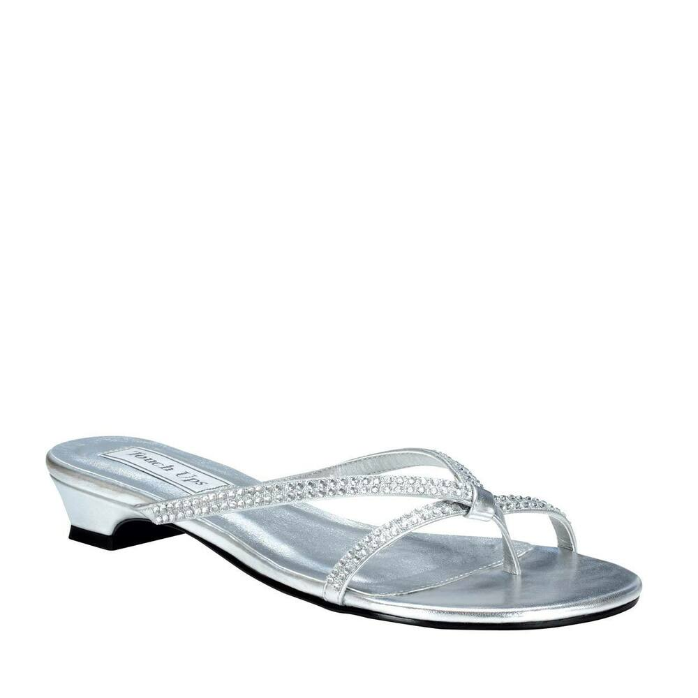 Silver Flat Strappy Shoes