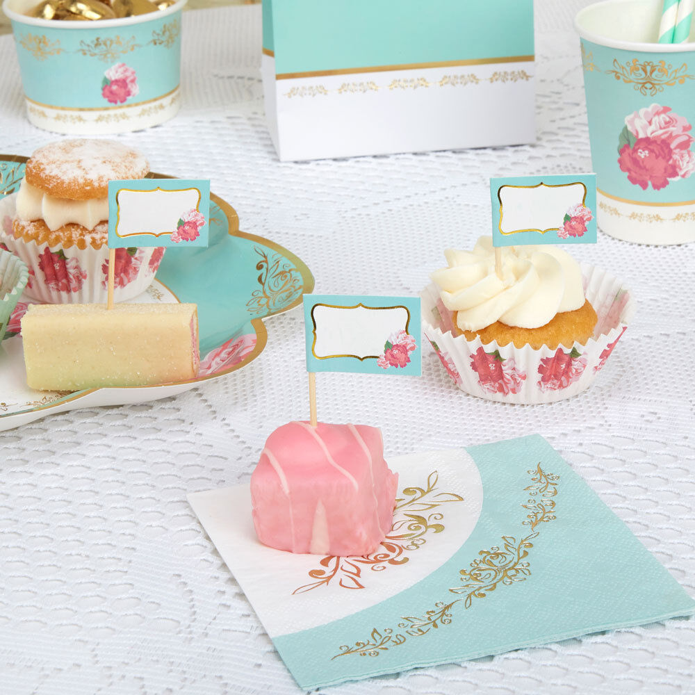 Http Www Ebay Com Itm Luxury Party Plates Shabby Chic Vintage Style Afternoon Tea Or Birthday Party 111665140632