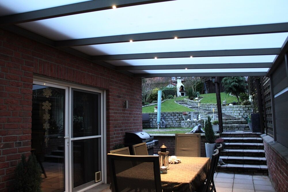 led komplettset minieinbaustrahler spot veranda carport wintergarten terrasse ebay. Black Bedroom Furniture Sets. Home Design Ideas