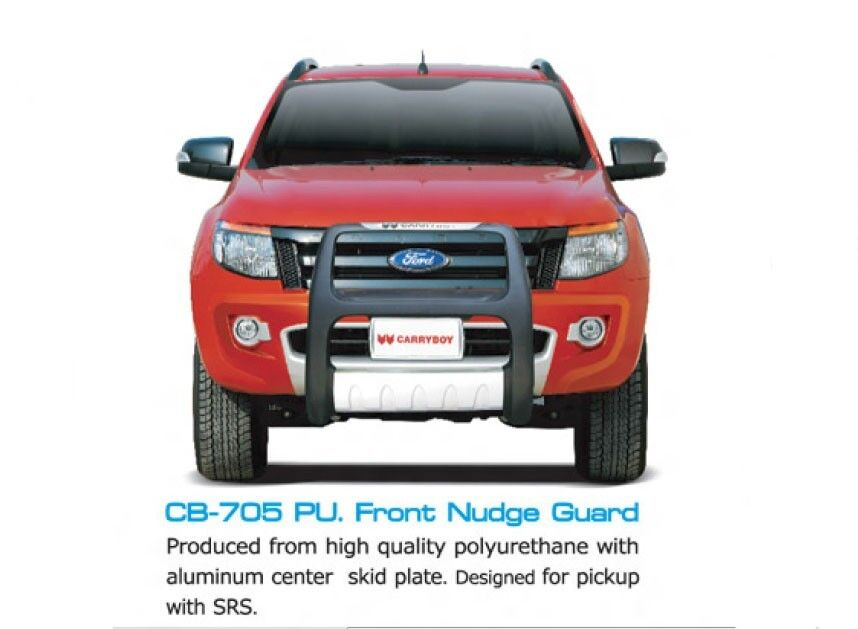 Car Front Bumper Protector FRONT GRILLE NUDGE GUARD PROTECTOR BUMPER FOR FORD RANGER T6 4X4 ...
