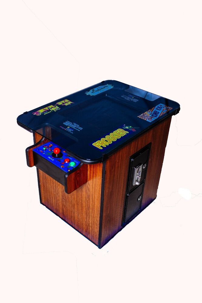 New Commercial Walnut Video Arcade Cocktail Table Multigame Plays Games 1980 39 S Ebay