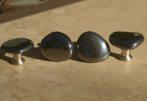 hematite stone cabinet knobs and drawer pulls ebay