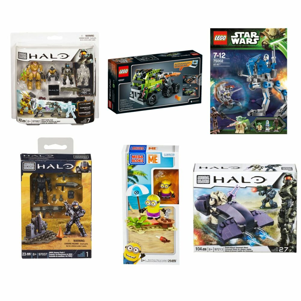 Lego Halo Toys : Lego and mega bloks toy sets halo star wars despicable