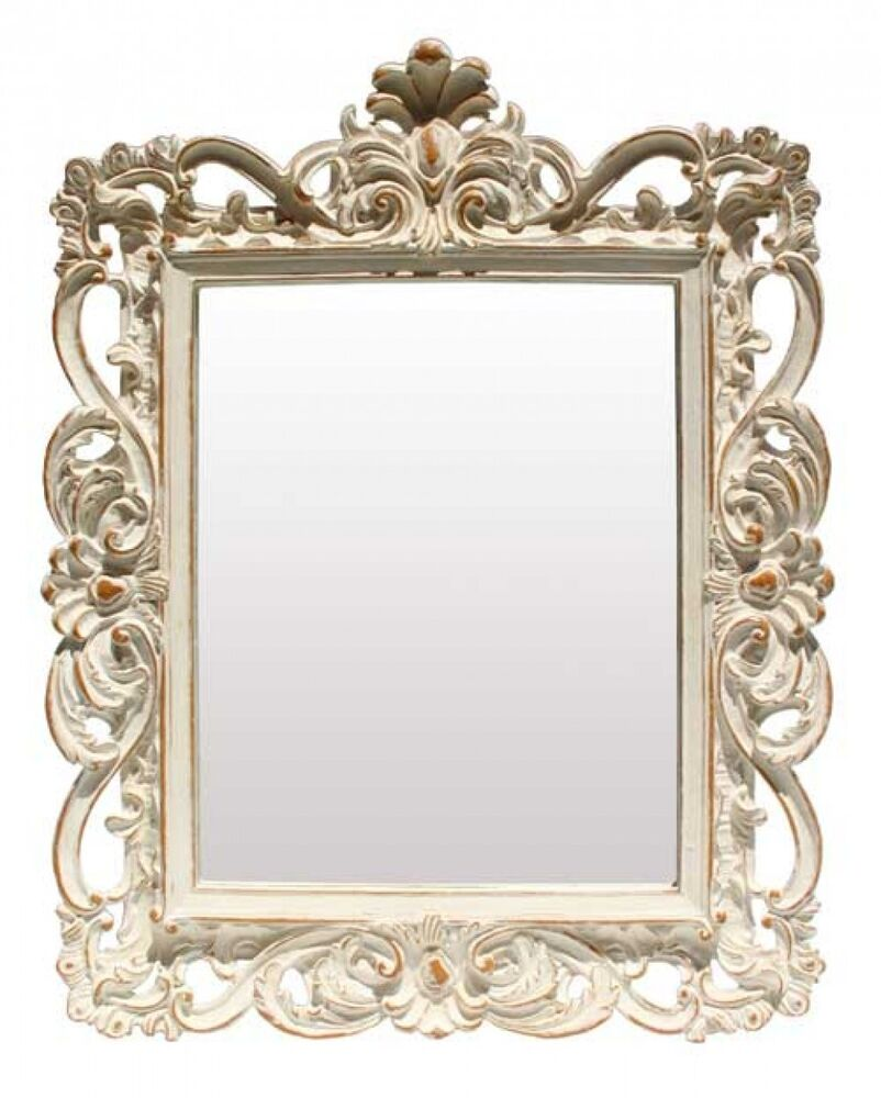Square antique style grand trianon shabby decorative for Decorative wall mirrors