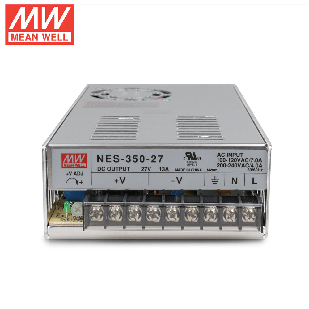 mw 27v ac dc psu single output switching power supply mean well nes 350 27 350w ebay. Black Bedroom Furniture Sets. Home Design Ideas