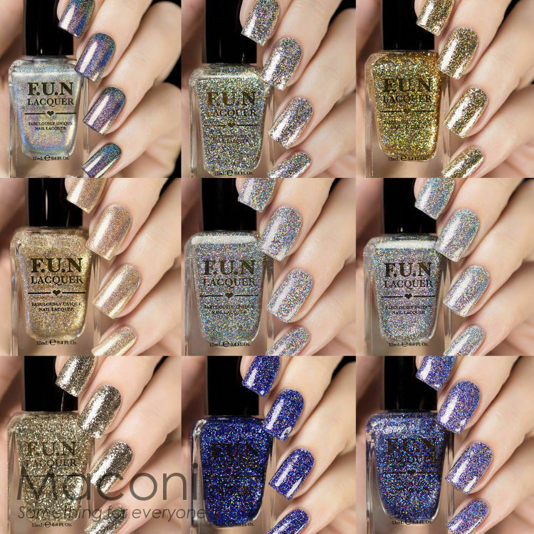 F.U.N Lacquer - Permanent Collection (Holo / Flakies / Glitter) Nail ...
