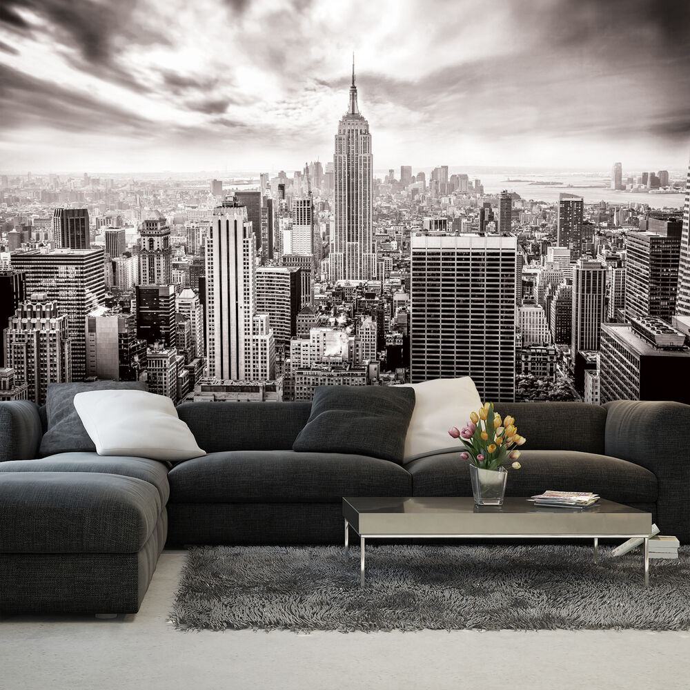 poster wandbild tapeten fototapete foto wolkenkratzer new york stadt 3fx2318p4 ebay. Black Bedroom Furniture Sets. Home Design Ideas