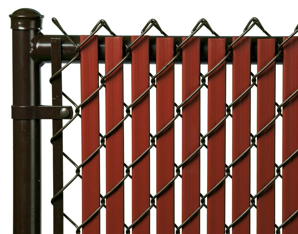 Chain Link Redwood Double Wall Tube Privacy Slat For 6
