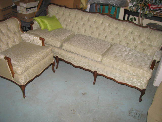 Antique Vintage French Provincial Sofa Couch and Chair Set ...