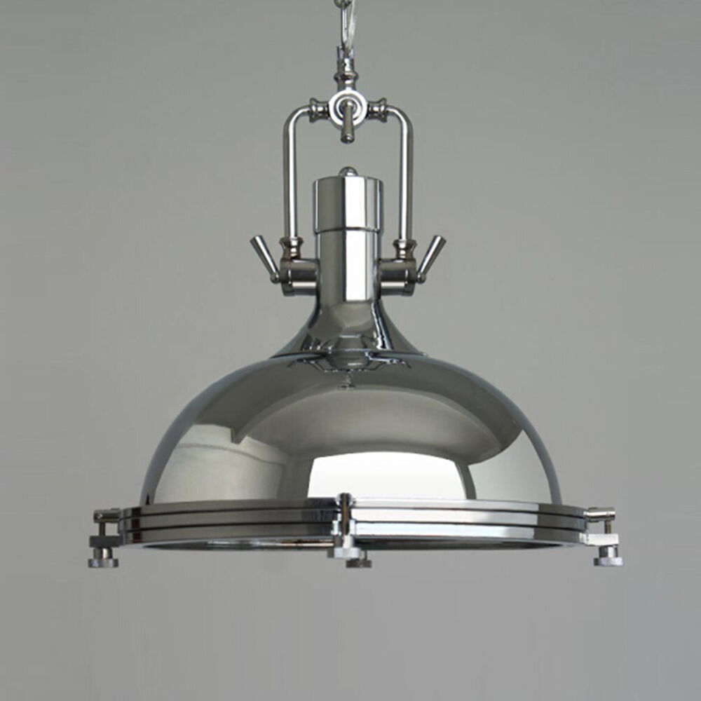 INDUSTRIAL Chandelier Chrome Pendant Lamp Hanging Ceiling