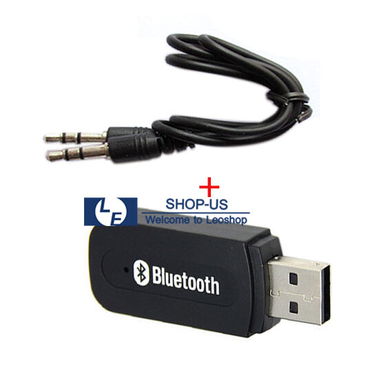 New Black Wireless Bluetooth 3.5mm USB 2.0 Music Receiver Stereo Audio Adapter