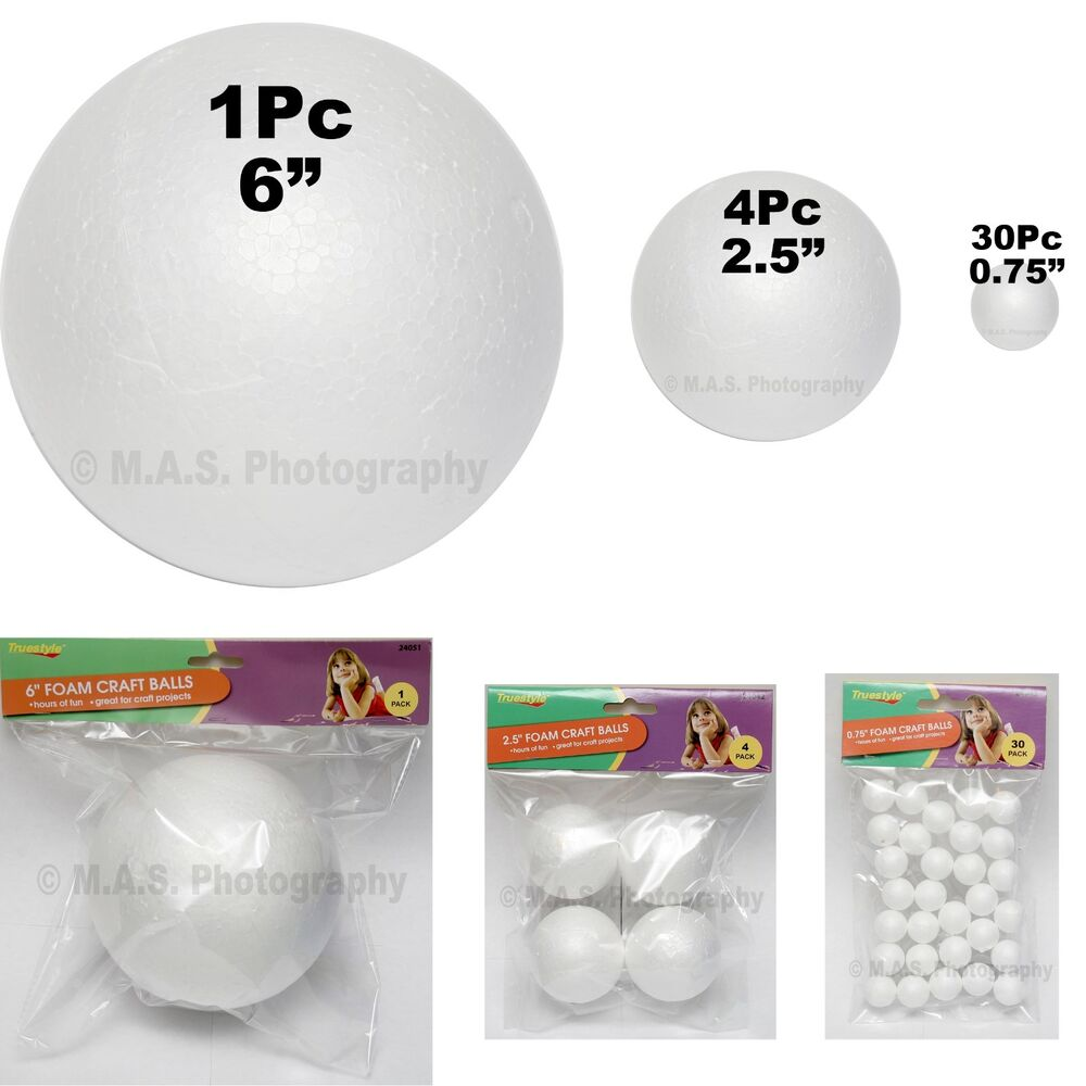 35 pieces 6 2 5 inches foam craft balls set school for Crafts with styrofoam balls for kids