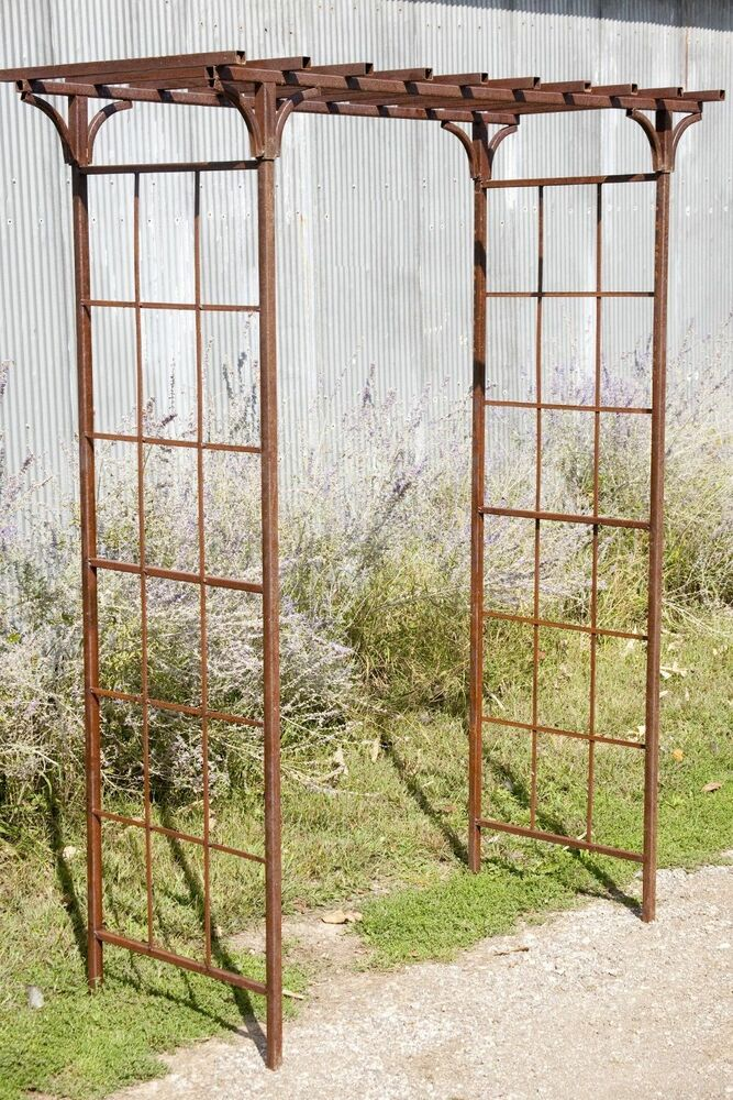 65 W X 101 5 T Wrought Iron Mission Arbor Metal Flower