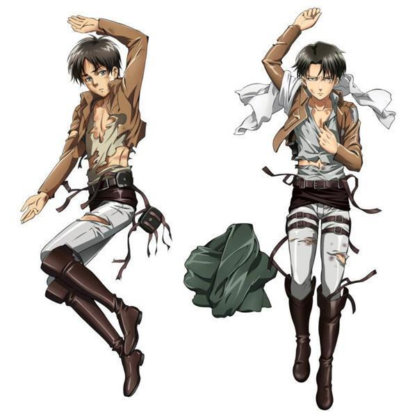 BL Anime Attack on Titan Levi & Eren Dakimakura Hugging ...