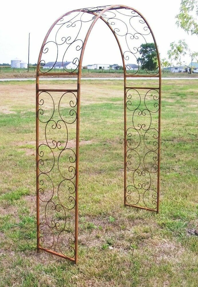 Wrought Iron Garden Arch Metal Shell Arbor for Your Home