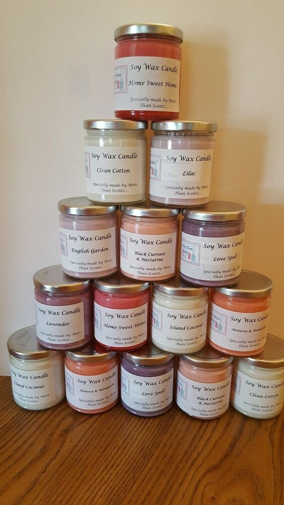 9 Oz Scented Soy Wax Candle Many Fragrances Available