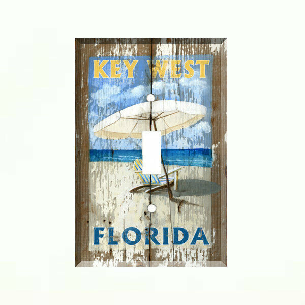 Key west florida beach chair light switch plate wall cover for House key cover with light