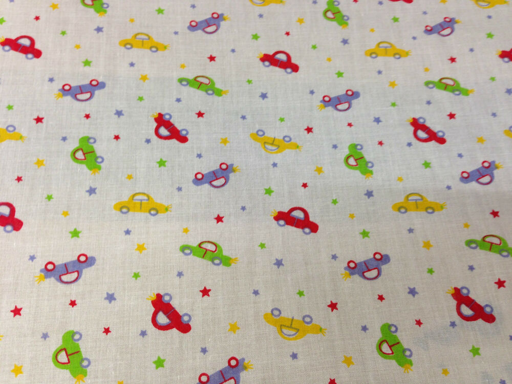cotton children 39 s kids fabric car print 44 wide