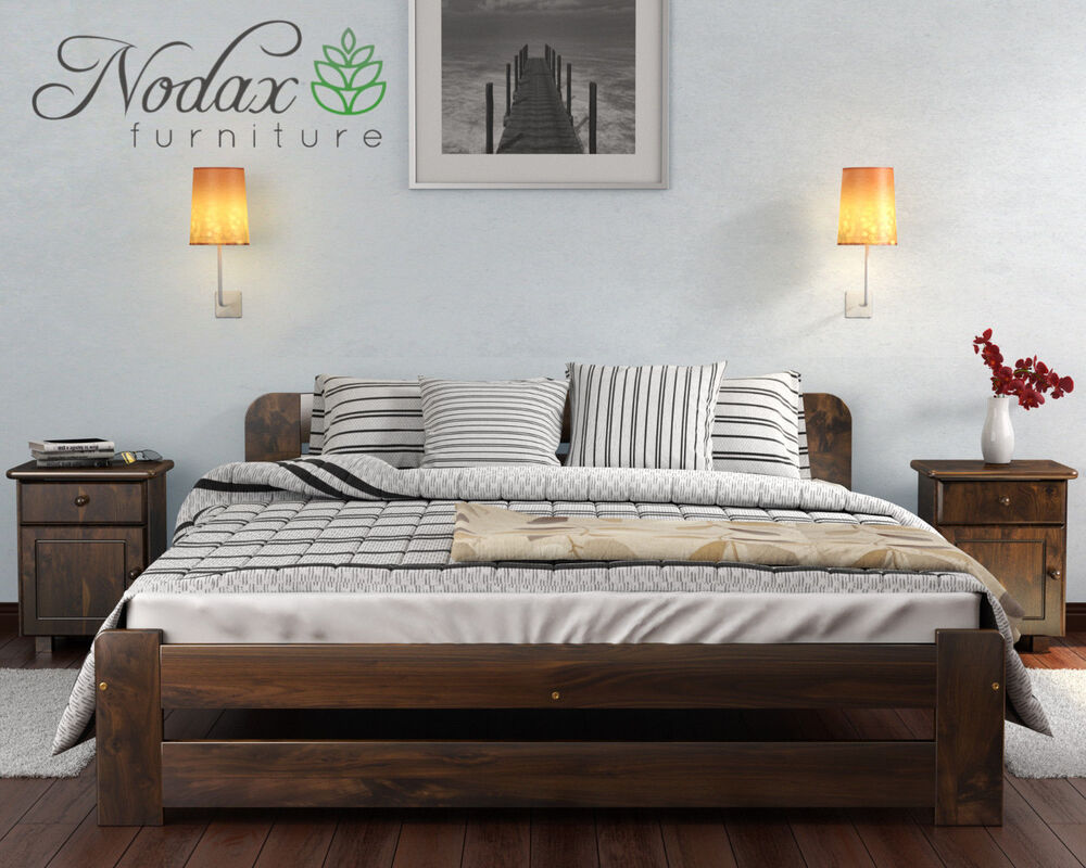 Nodax Solid Wooden Bedroom Pine Super King Size Bed 6ft
