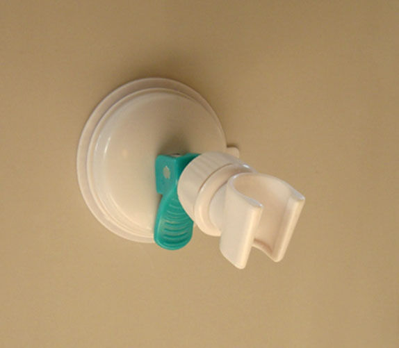 wall suction cup shower holder, hand held shower head